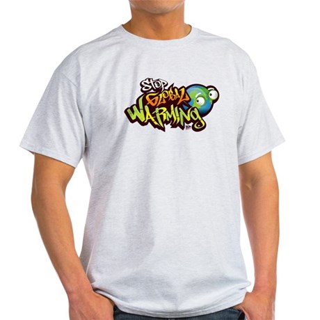 Stop Global Warming - Graffit Light T-Shirt