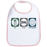 Eat Sleep Cartography Bib