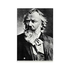 Brahms Fridge Magnet Rectangular