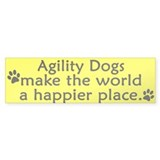 Happy Place Agility Bumper Bumper Sticker