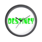 Destiney Faded (Green) Wall Clock