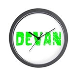 Devan Faded (Green) Wall Clock