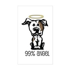 99% Angel Pit Bull Rectangle Decal