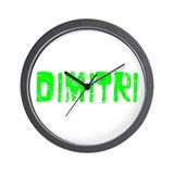 Dimitri Faded (Green) Wall Clock