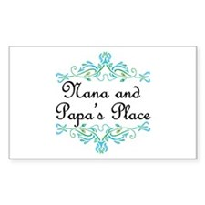 Nana and Papa's Place Rectangle Bumper Stickers