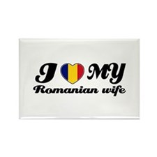 I love my Romanian wife Rectangle Magnet