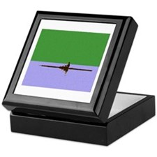 ROWER GREEN BLUE PAINTED Keepsake Box