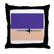 ROWER PURPLE ORANGE PAINTED Throw Pillow