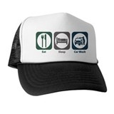 Eat Sleep Car Wash Trucker Hat