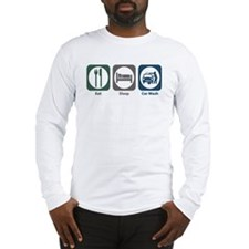 Eat Sleep Car Wash Long Sleeve T-Shirt