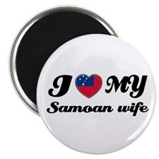"I love my Samoan Wife 2.25"" Magnet (100 pack)"