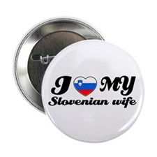 "I love my Slovakian Wife 2.25"" Button (10 pack)"