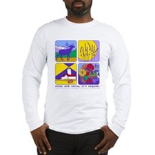 relax and smile, it's sequim long sleeve t