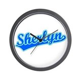 Retro Sherlyn (Blue) Wall Clock