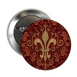 Fleur de Lis Treasure 2.25&quot; Button (10 pack)