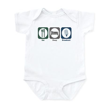 Eat Sleep Broadcast Infant Bodysuit