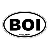 Boise, Idaho Oval Decal