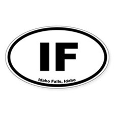 Idaho Falls, Idaho Oval Decal