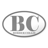BC Abbreviation Border Collie Decal