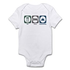 Eat Sleep Boatbuilding Infant Bodysuit