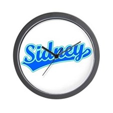 Retro Sidney (Blue) Wall Clock