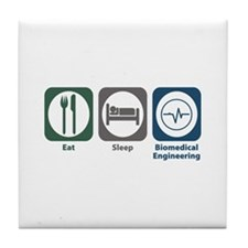 Eat Sleep Biomedical Engineering Tile Coaster
