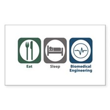 Eat Sleep Biomedical Engineering Decal