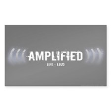 Amplified Rectangle Bumper Stickers
