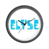 Elyse Faded (Blue) Wall Clock
