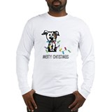 Pit Bull Christmas Lights Long Sleeve T-Shirt