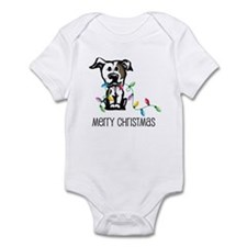 Pit Bull Christmas Lights Infant Bodysuit