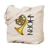 Classic French Horn Music Tote Bag