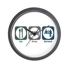 Eat Sleep Bartend Wall Clock