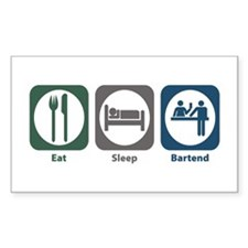 Eat Sleep Bartend Rectangle Decal