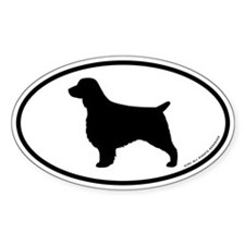Oval Welsh Springer Spaniel Decal