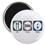 "Eat Sleep Bake 2.25"" Magnet (10 pack)"