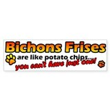 Potato Chips Bichon Frise Bumper Bumper Sticker