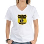 VA Beach PD Canine Women's V-Neck T-Shirt