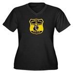 VA Beach PD Canine Women's Plus Size V-Neck Dark T