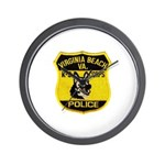 VA Beach PD Canine Wall Clock