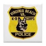 VA Beach PD Canine Tile Coaster