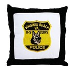 VA Beach PD Canine Throw Pillow