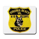VA Beach PD Canine Mousepad