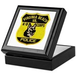 VA Beach PD Canine Keepsake Box