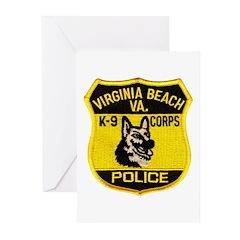 VA Beach PD Canine Greeting Cards (Pk of 20)