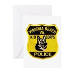 VA Beach PD Canine Greeting Cards (Pk of 10)