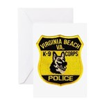 VA Beach PD Canine Greeting Card