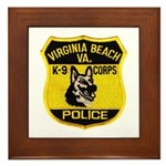 VA Beach PD Canine Framed Tile