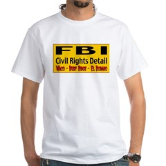 FBI Civil Rights Detail White T-Shirt