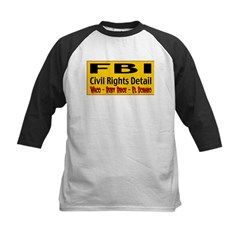FBI Civil Rights Detail Kids Baseball Jersey